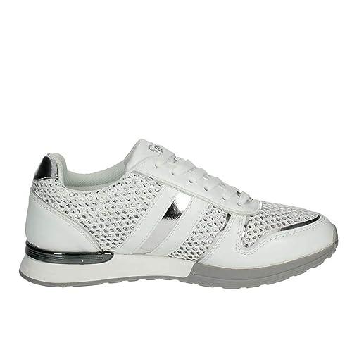 Laura Biagiotti Scarpe Donna Sneaker Pelle Bianca 686-WHITE  Amazon.it   Scarpe e borse 0e4beb23c31