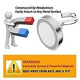 EVISWIY 150LBS Magnetic Hooks with 4 Eyebolt
