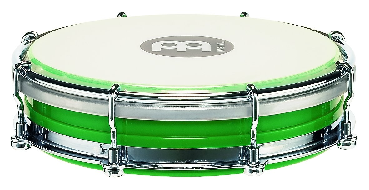 Meinl Percussion Tamborim with Floatune Tuning System - NOT MADE IN CHINA - Green ABS Plastic Body and Synthetic Head, 2-YEAR WARRANTY (TBR06ABS-GR)