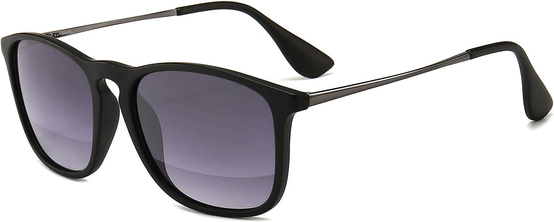 SUNGAIT Gafas de sol Mujer hombre Retro 100% protección UVA conducción