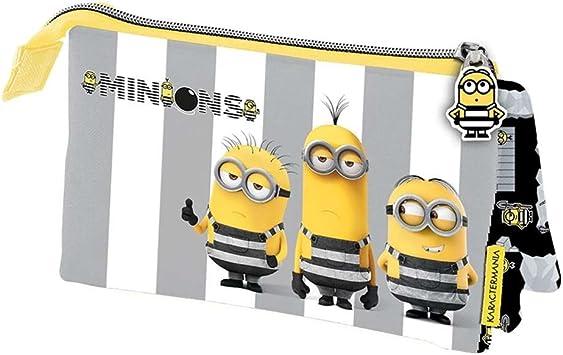 MINIONS- GRU Mi Villano Favorito 3 Estuche portatodo Triple, Color Amarillo, 22 cm (Karactermanía 32570): Amazon.es: Juguetes y juegos