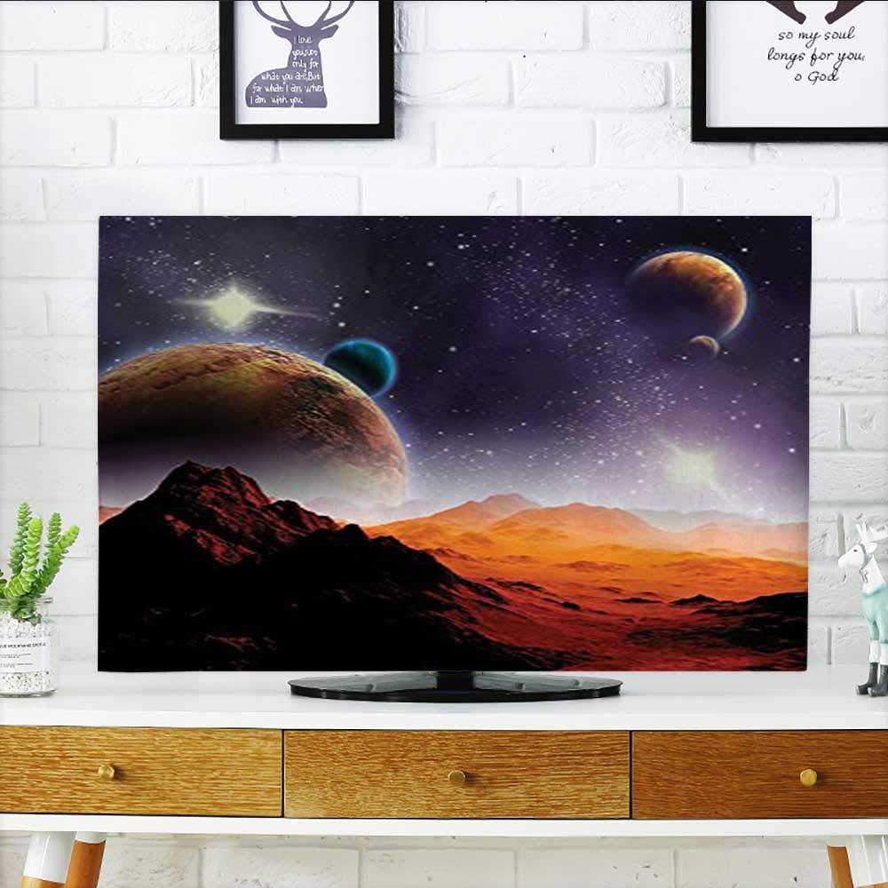 Auraisehome Front Flip Top Cosmos Fantasy Decor Solar Sky Nebula Orbit Comet Horizon System Front Flip Top W20 x H40 INCH/TV 40''-43''