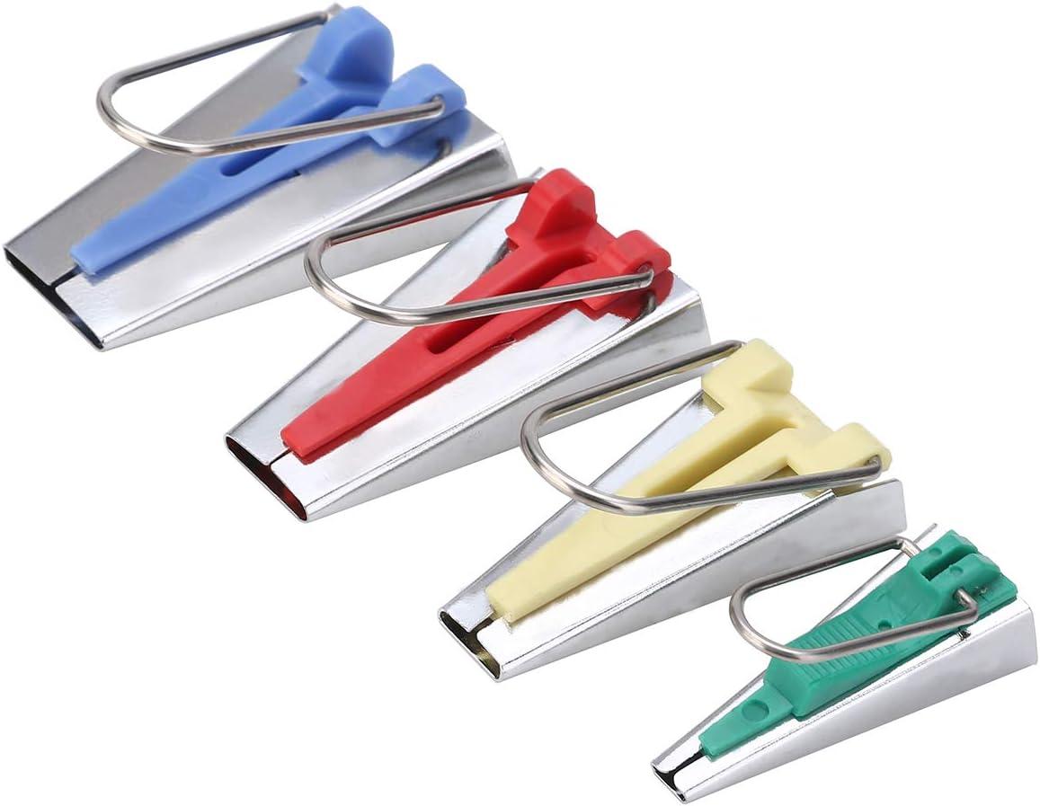 6MM//12MM//18MM//25MM Fabric Bias Tape Maker Tools Kit Set,Fabric Bias Tape Maker Folder Kit DIY Sewing for Quilting Binding,Single//Double Fold Bias Tape