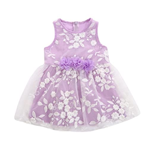 ShiTou Toddler - Embroidery Sleeveless Princess Dress Tuller Dress Outfits (100)