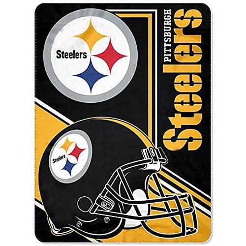(Pittsburgh Steelers Blanket 66x90 XXL Fleece Lightweight NFL Steelers Throw)