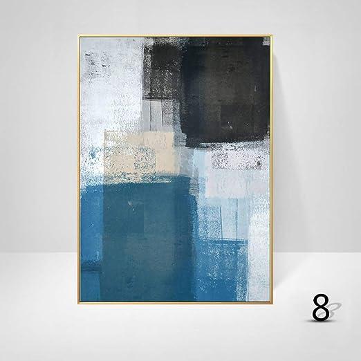 WSNDGWS Decoración del hogar Pintura Geométrica Color Abstracto ...