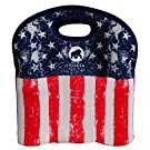 Hoopla Gorilla Bags - All American Star Spangled Banner 6 Pack - Deluxe Insulated Bottle Carrier - Durable Neoprene Beer Bottle Tote, Lightweight, Stores Flat
