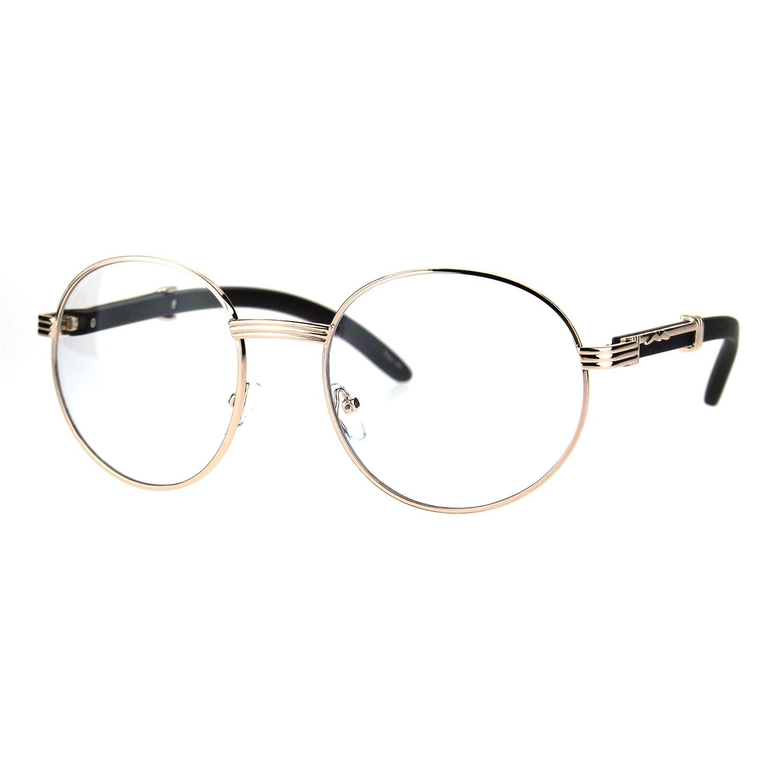 SA106 Art Nouveau Vintage Style Oval Metal Frame Eye Glasses j8414cl-j-ywgd