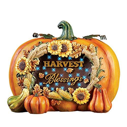 Autumn Harvest Blessings Pumpkin Decoration