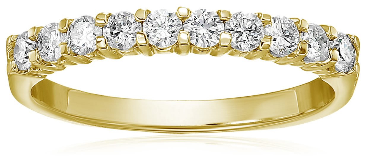 Vir Jewels Certified SI2-I1 1/2 cttw Diamond Wedding Band 14K Yellow Gold Size 6.5