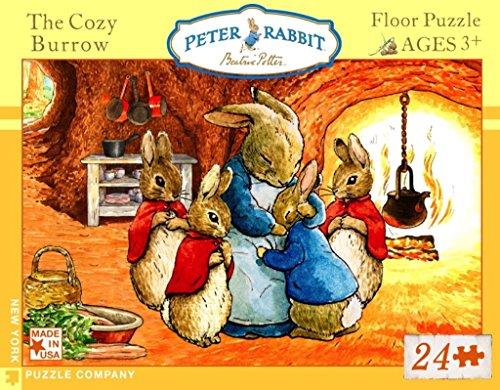 New York Puzzle Company - Beatrix Potter Cozy Burrow - 24 Piece Jigsaw Puzzle