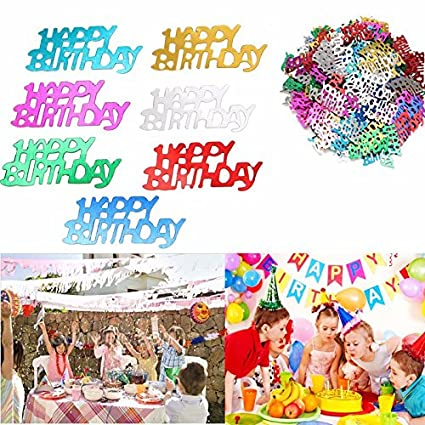 Amazon Raza 200pcs Plastic Happy Birthday Pattern Table