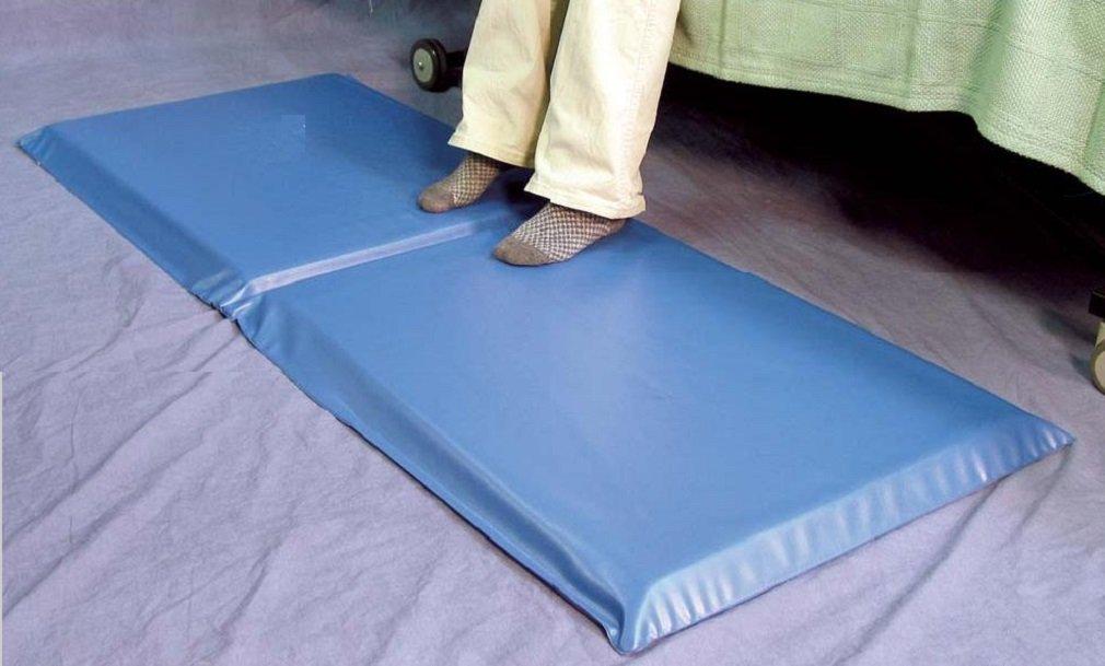 Bedside Foam Fall Pad, Anti-Trip Soft Fall Prevention Protection Floor Mat 24 x 66 x 2