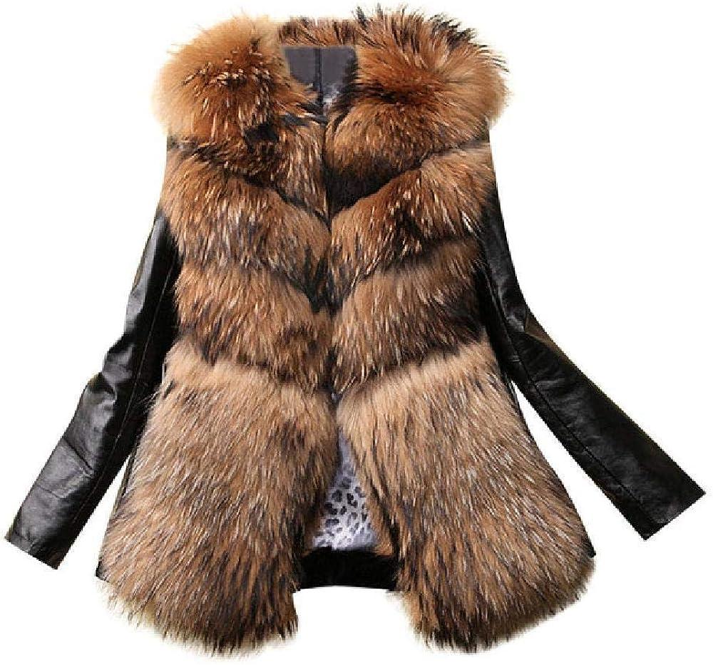 Nuevo Otoño Invierno Mujer Chaqueta de Cuero de imitación Chaquetas de Cuello de Piel sintética cálidas Ocasionales Slim Fit Chaqueta de Abrigo Corto de Cuero Negro