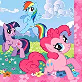 "Charming My Little Pony Friendship Birthday Party Luncheon Napkins Tableware (16 Pack), Multi Color, 6 1/2"" x 6 1/2""."
