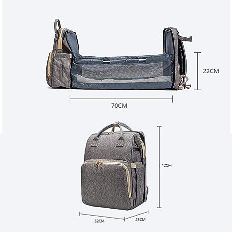 Mscoreray Bolso de Beb/é Impermeable Aislado Y Invisible Mochila Multifuncional de Gran Capacidad Para Cuidado de Beb/é Viajar y Silla de Paseo