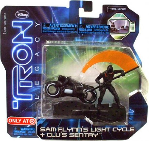 Tron Legacy Figures Light (Tron Legacy Series 1 Exclusive Figure 2Pack Sam Flynns Light Cycle Clus Sentry)