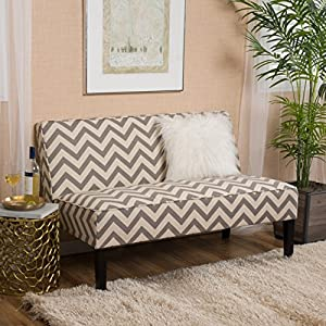 Christopher Knight Home 296858 Dejon Pine Love Seat Dark Gray