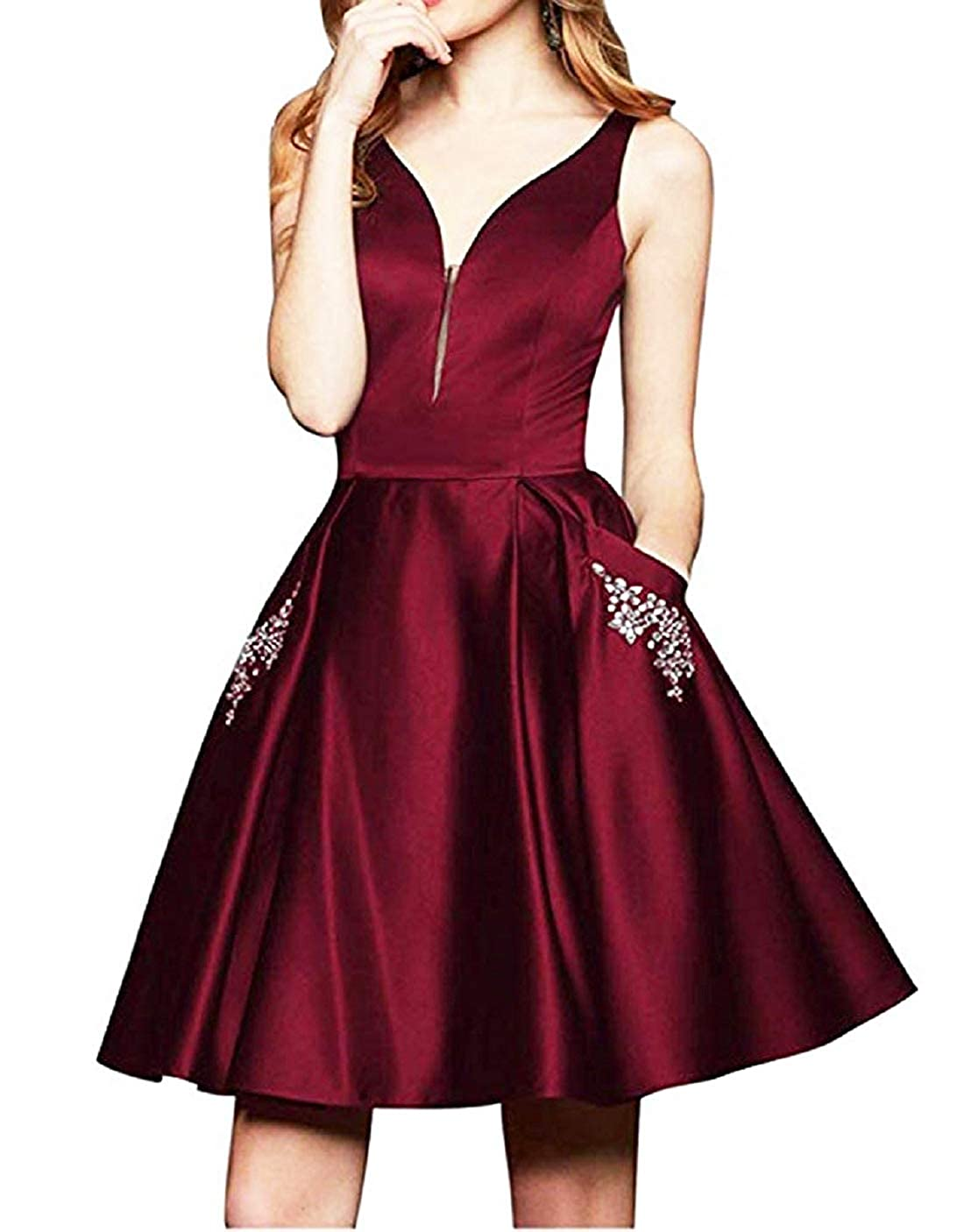 Homecoming Dresses Reliable 2018 Ball Gowns Short Graduation Homecoming Dresses Organza Zipper Back Violet Homecoming Cocktail Party Dress Short Strong Resistance To Heat And Hard Wearing