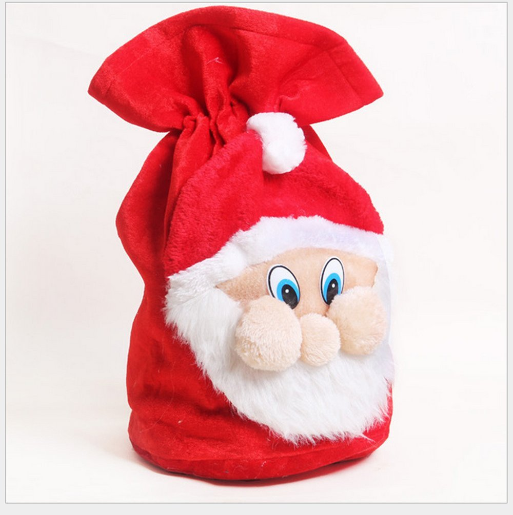 Christmas Gift Bags, Homecube Large Santa Claus Backpack Christmas Gifts for Kids Christmas Stockings Candy Bags