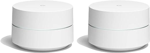 Google GA00190-DE WiFi-router Wireless Bluetooth White Set van 2, wit