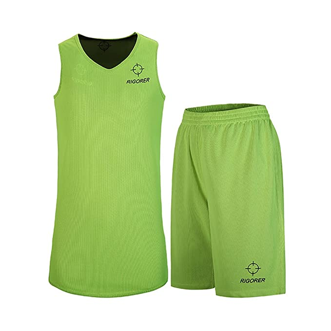 fc811e9c386 Amazon.com   RIGORER Men s Reversible Basketball Uniforms 2 Sides Wear  Sports Jersey and Mesh Shorts Training Tank Top Set   Sports   Outdoors