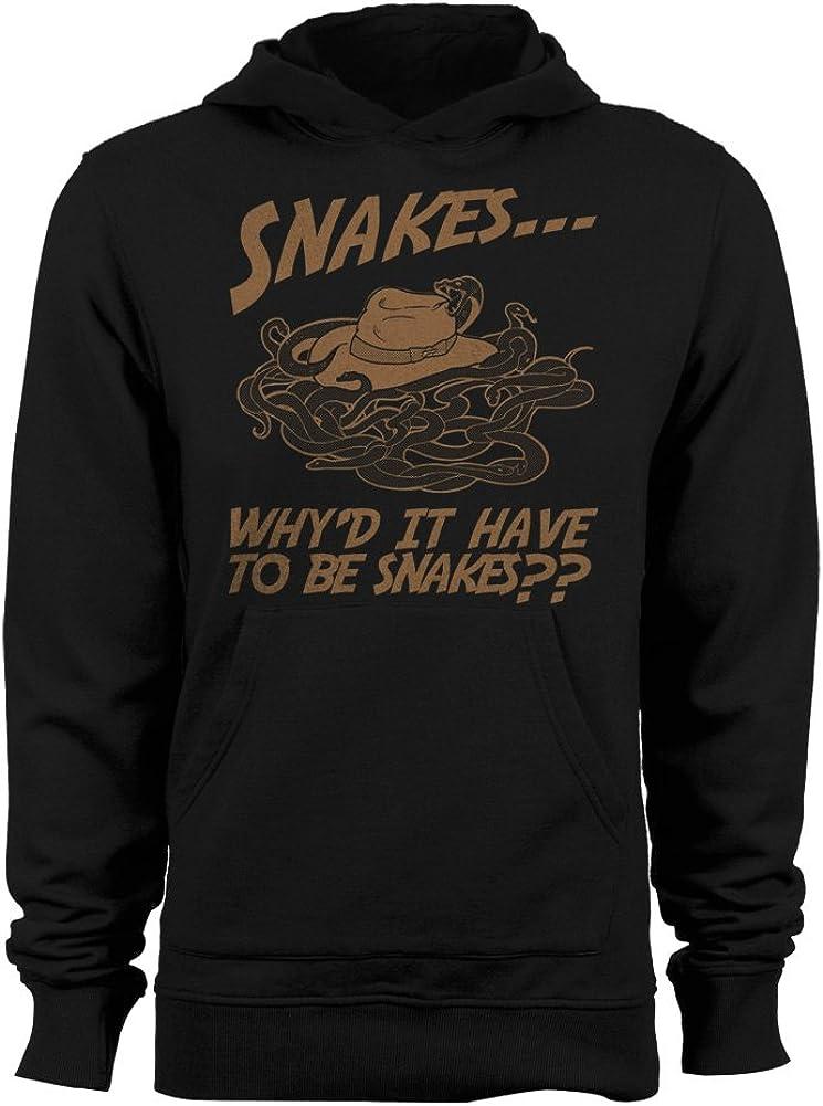 Womens Hoodie GEEK TEEZ Whyd It Have to Be Snakes