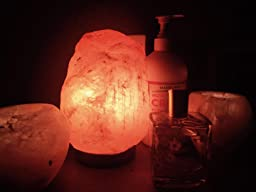 Salt Lamps Yes Or No : Amazon.com: Crystal Allies Gallery: Natural Himalayan Salt Lamp and 2 Piece Globe Candle Holder ...