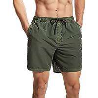 Zwemshort voor heren, sneldrogend, surfpak, ademend, trainingsshorts, waterdicht, korte sportbroek met zakken, zwembroek…