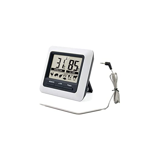 Amplia Cocina Digital Alimentación del termómetro de Carne de ...
