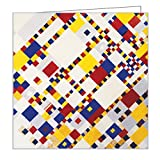 Piet Mondrian Mini FlipTop Notecards with Magnetic Closure, museum quality greeting cards for all occasions