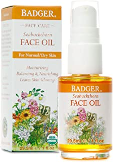 product image for Badger - Face Oil, Seabuckthorn, Certified Organic, Seabuckthorn Oil, Organic Face Oil, Moisturizing Facial Oil, Natural Face Oil, 1 oz Glass Bottle