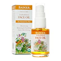 Badger - Face Oil, Seabuckthorn, Certified Organic, Seabuckthorn Oil, Organic Face...