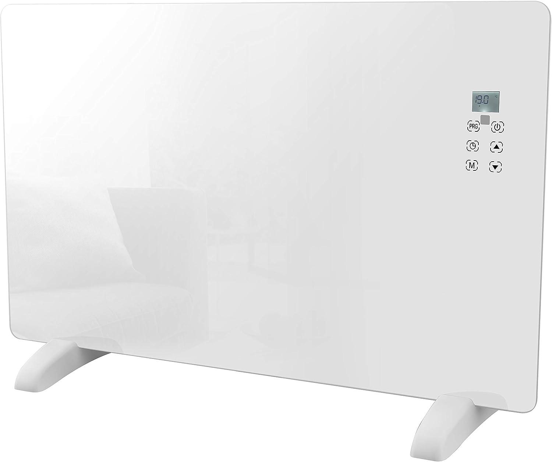 Haverland CHRISTA-20 | Radiador Convector Eléctrico Portátil | 2000W | Diseño Moderno de Cristal | Programación individual 7 días | Touch Control | LCD | Mando a distancia | Timer