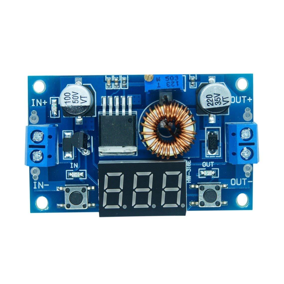 Zinniaya DC-DC Step Down Converter 5-36V to 1.25-32V 5A Buck Voltage Regulator with Digital LED Display Voltage Converter