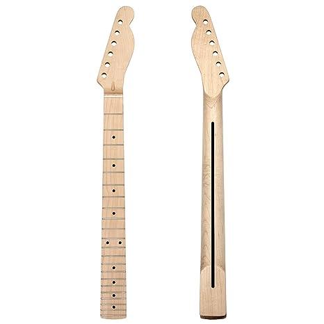 Kmise Mástil de guitarra de madera de arce de repuesto para Fender Tele TL