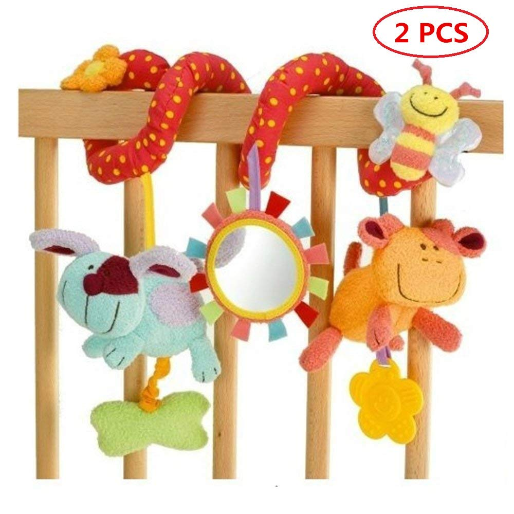Hanging Cot Rattle Baby Rabbit Baby Cot Toy Newin Star Spiral Activity Toys for Pram and Bed