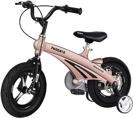 UOOGOU Bicicleta para niños con Ruedas auxiliares Bicicleta para ...