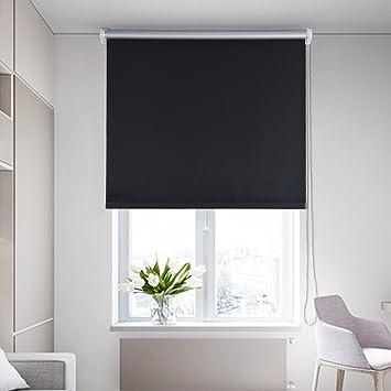 Rollos Schwarz shiny home 80x175cm b x h schwarz blickdicht abdunkeln