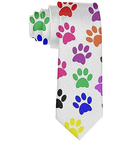 Corbata Corbatas divertidas Impresiones coloridas de la pata ...