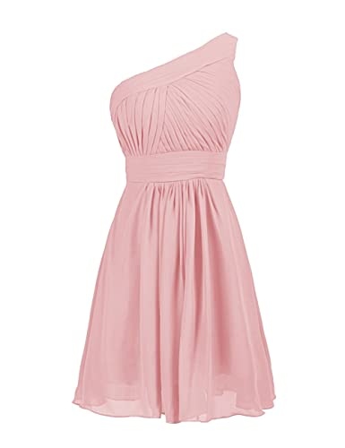 Dressystar Short One Shoulder Bridesmaid Dress A-line Cocktail Party Gown