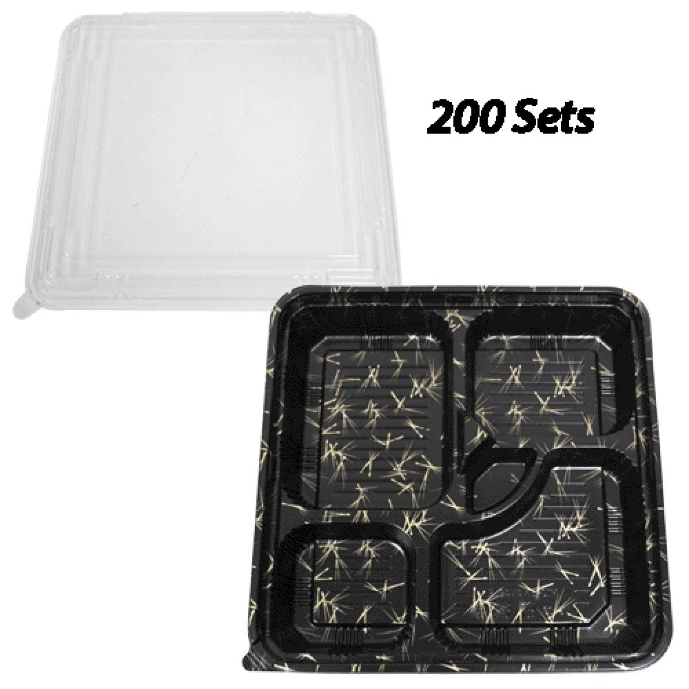 Disposable Bento Boxes 10.6''x10.6'' (200 Sets)