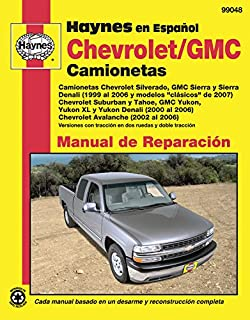 Chevrolet and GMC Camionetas Manual de Reparaci=n (Haynes Automotive Repair Manuals) (