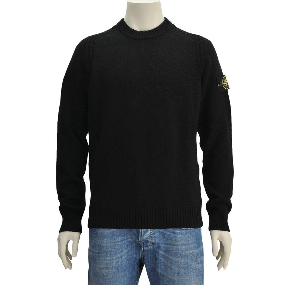 (ストーンアイランド) STONEISLAND メンズ ポリアミド混紡ウールニット ブラック 正規取扱店 B07F9JZW23 Sサイズ