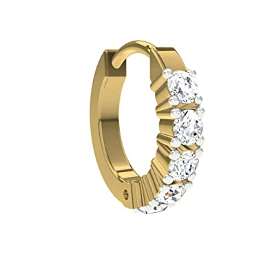 Buy TBZ The Original Traditional 18k Yellow Gold and Diamond Nose