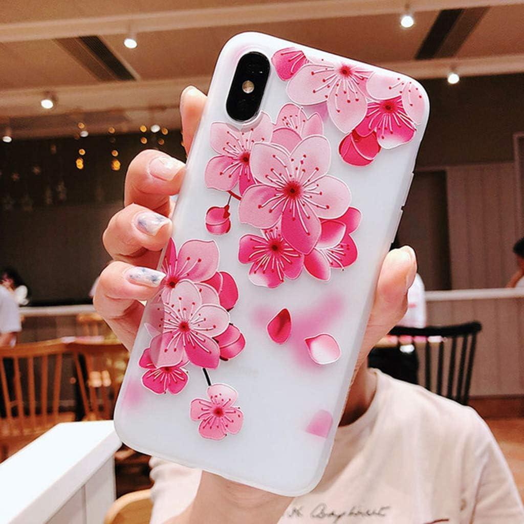 DMMDHR Funda de Silicona para teléfono con Flor 3D para Xiaomi Prime mi 6 8 mi x 2 2 s A1 6X Nota 3 Funda, 3D Relief Flower 1 o Xiaomi Mi 8: Amazon.es: Electrónica