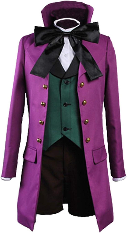 Black Butler Purple Full Set Uniform Alois Trancy Cosplay Costume