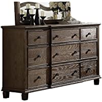 ACME Furniture 26115 Baudouin Dresser, One Size, Weathered Oak