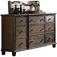 ACME Furniture 26115 Baudouin Dresser, One Size, Weathered Oak