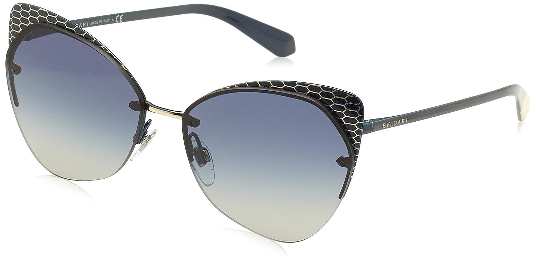 Bvlgari Snake Effect Cateye Sunglasses in Brown Pale Gold BV6083 203013 56 Bulgari 7AByPeYZ